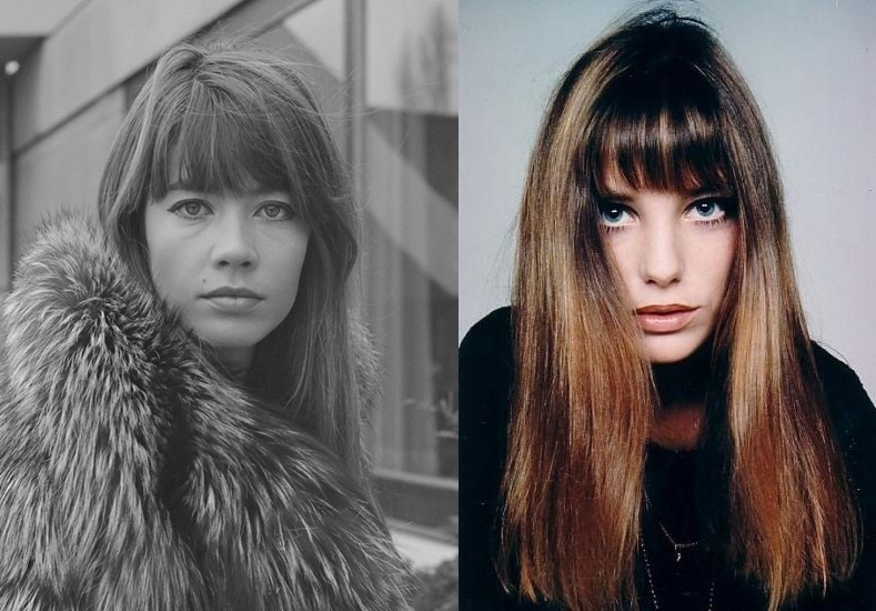 Franse zangeres-actrice Francoise Hardy in Amsterdam *16 december 1969